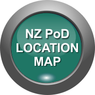 NZ Location MAP of Business PoDs in NZ